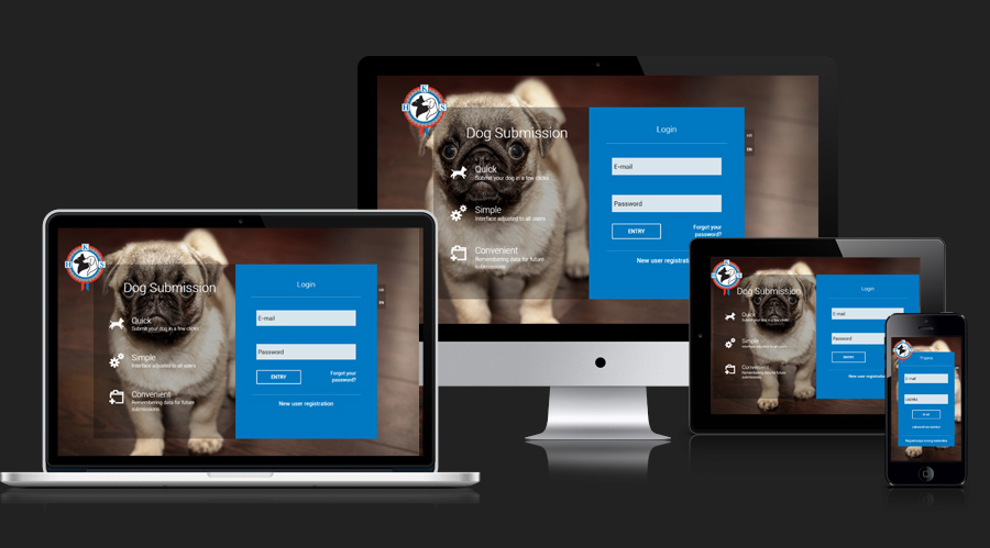Mockups for Dog Show Application